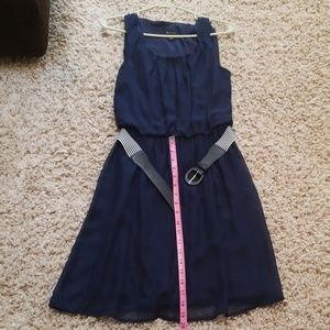 AB studio navy blue dress